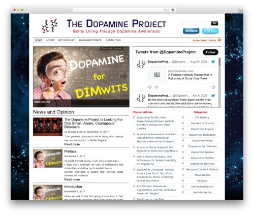 Dopamine best WordPress theme - dopamineproject.org