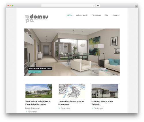 Portfolio theme WordPress portfolio - domus-ec.com