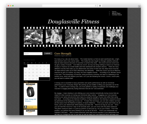 Silent Film WordPress Template