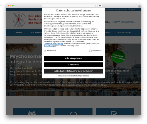The7 WordPress website template - deutscher-psychosomatik-kongress.de