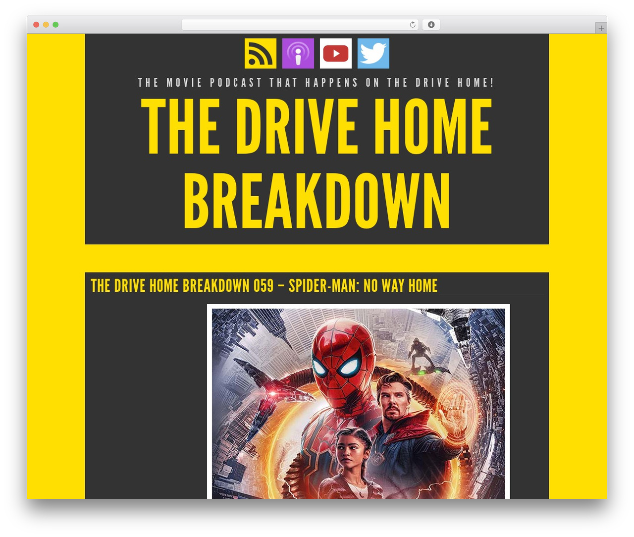 Trvl WordPress video theme - drivehomebreakdown.com