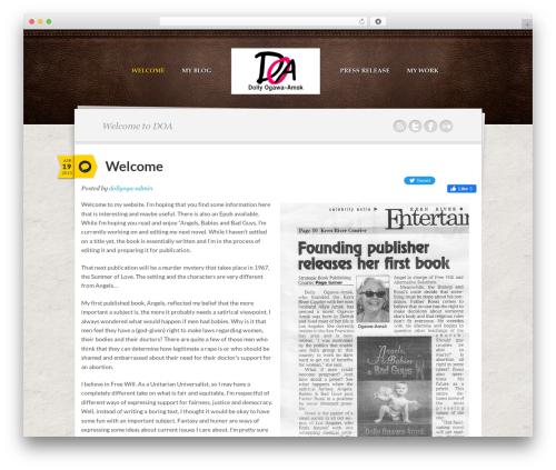 Writer Child WordPress theme design - dollyogawaamsk.com