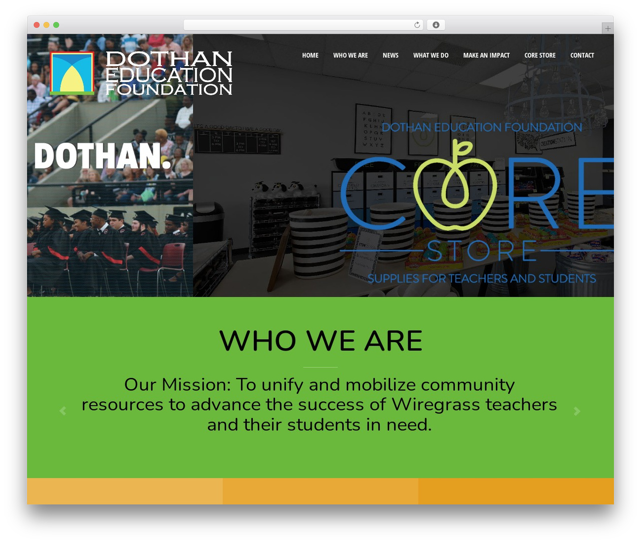 Act WordPress website template - dothaneducationfoundation.org