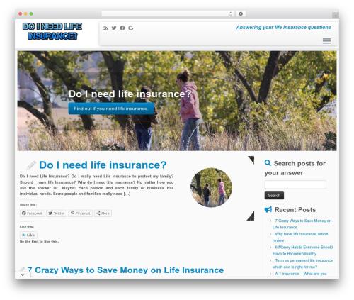 Customizr WordPress theme free download - doineedlifeinsurance.com