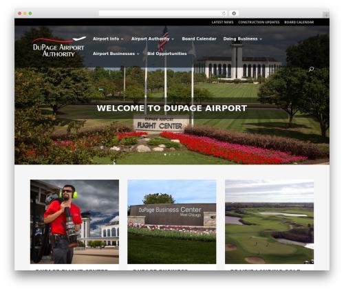 Divi business WordPress theme - dupageairport.com