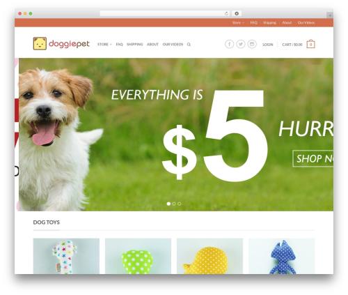 Flatsome WordPress theme - doggiepet.com