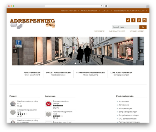 Genesis WordPress shop theme - adrespenning.com
