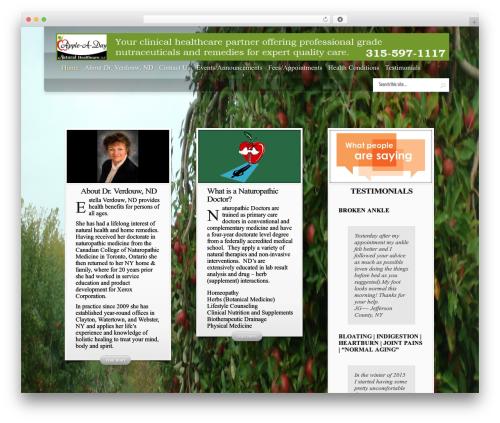 InStyle WordPress website template - drestelland.com