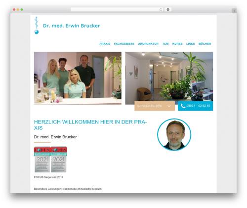 Praxis Dr. med. Erwin Brucker theme WordPress - dr-brucker.info