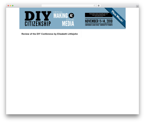 R755 WordPress theme - diycitizenship.com