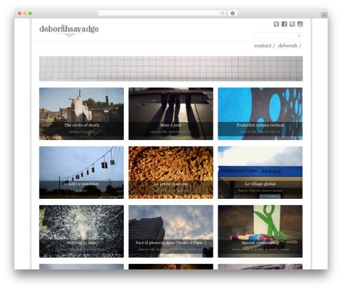 Simple Grid Theme Responsive top WordPress theme - deborahsavadge.com