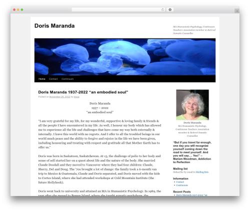 Twenty Ten theme WordPress free - dorismaranda.com