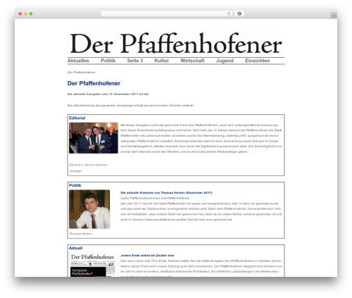 Twenty Twelve free WordPress theme - der-pfaffenhofener.de