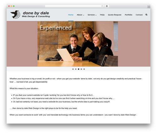 Ultra Premium template WordPress - donebydale.com