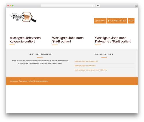 WordPress theme Wlad Framework - dein-stellenmarkt.com