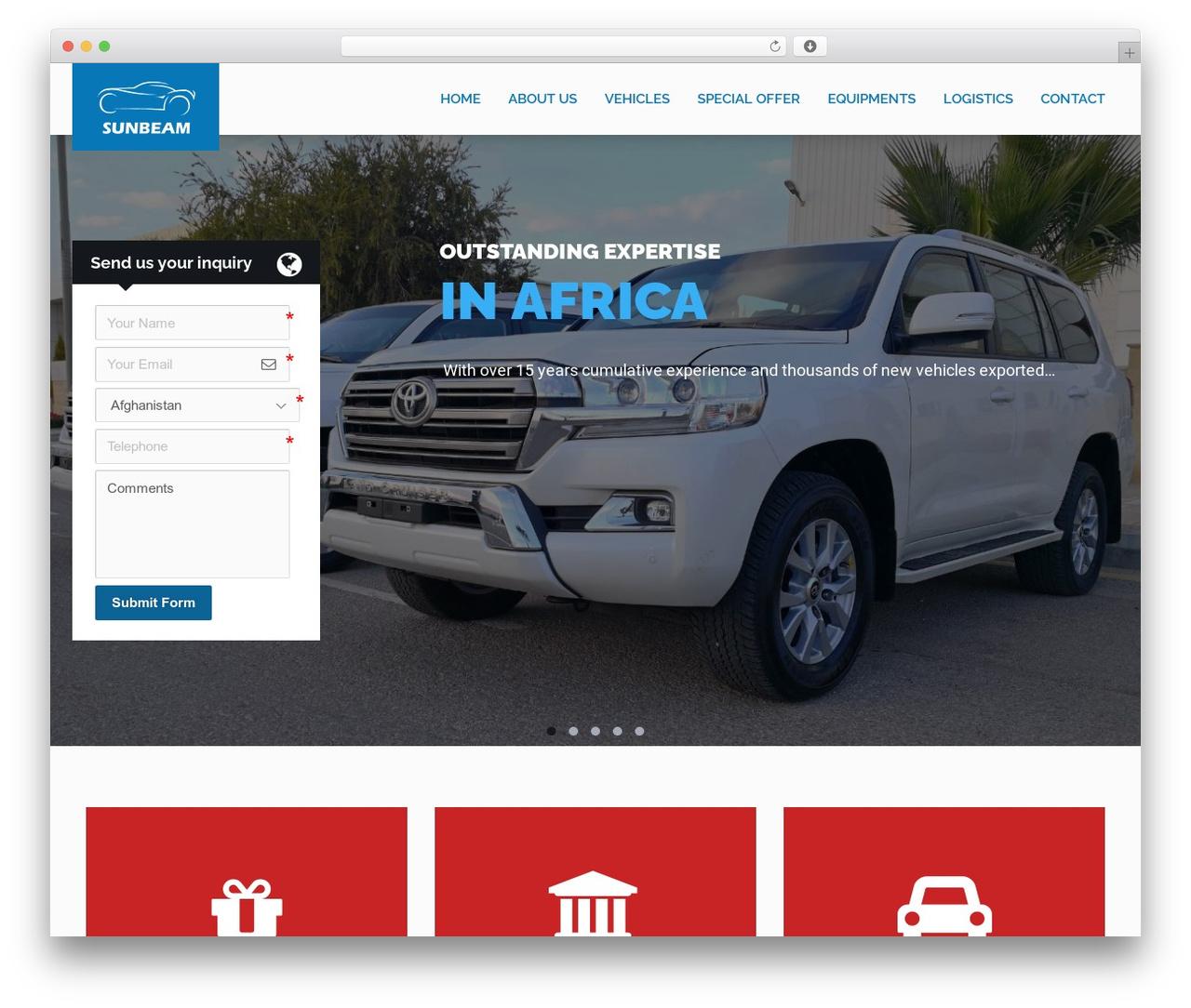WP theme RentIt - dubai-car-trading.com