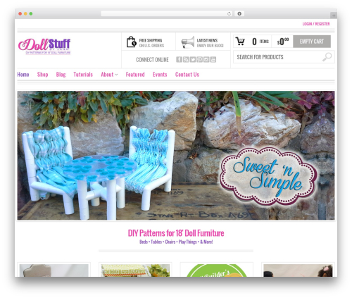 Bazar template WordPress - dollstuffbyjana.com