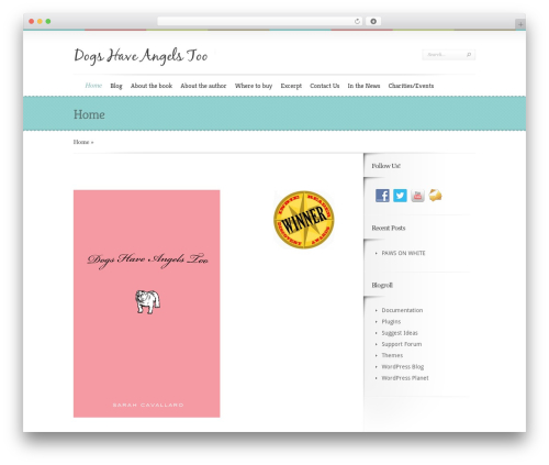 Boutique WP template - dogshaveangelstoo.com
