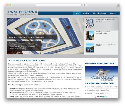 Joshua WordPress theme - dubrovniksynagogue.com