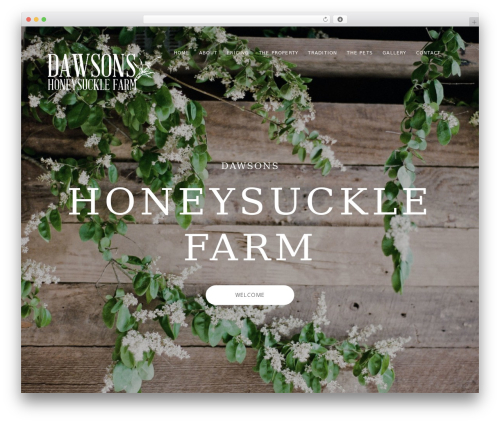 Mies best wedding WordPress theme - dawsonshoneysucklefarm.com