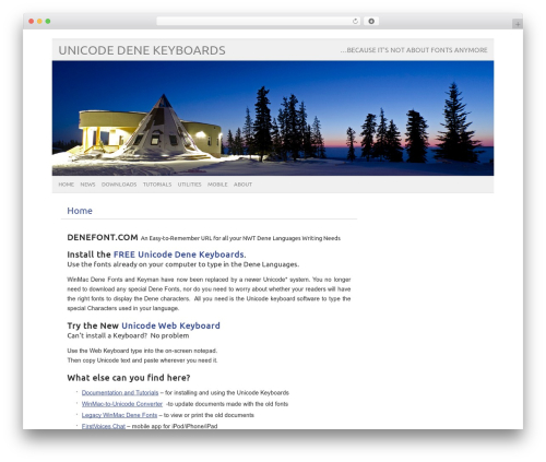 picolight best WordPress template - denefont.com