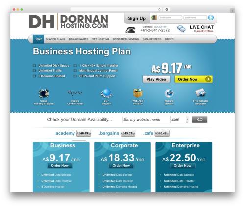 Simply Elegant top WordPress theme - dornanhosting.com