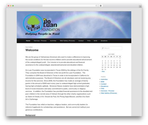 Twenty Eleven WordPress page template - doluanfoundation.org