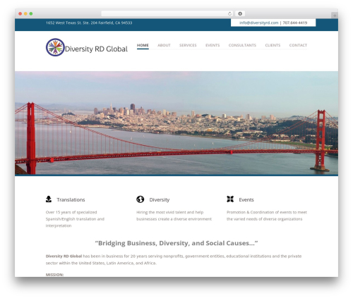 Vanguard business WordPress theme - diversityrd.com