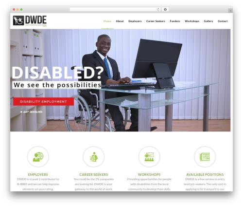 Veda WordPress template - dwde.co.za