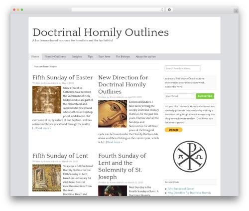 WordPress theme Catalyst - doctrinalhomilyoutlines.com