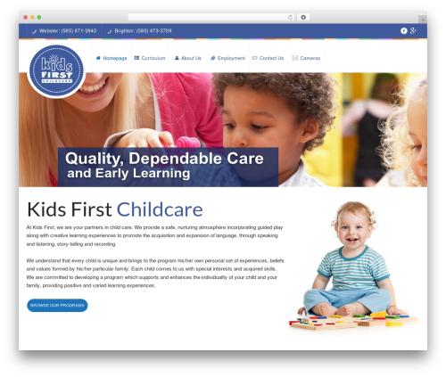 WordPress theme Peachclub - kidsfirstchildcare.com