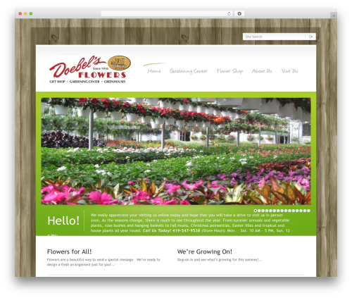 WP template WordPress Theme Number - doebelsflowers.com
