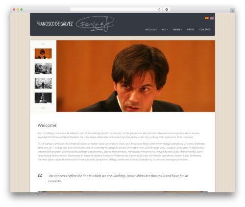 Acoustic WordPress theme - frandegalvez.com