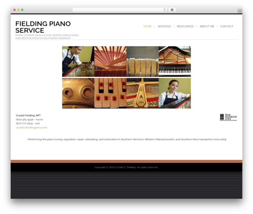 Best WordPress template Shaped Pixels - fieldingpiano.com