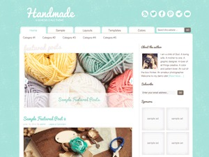 Craftiness Child Theme WordPress template