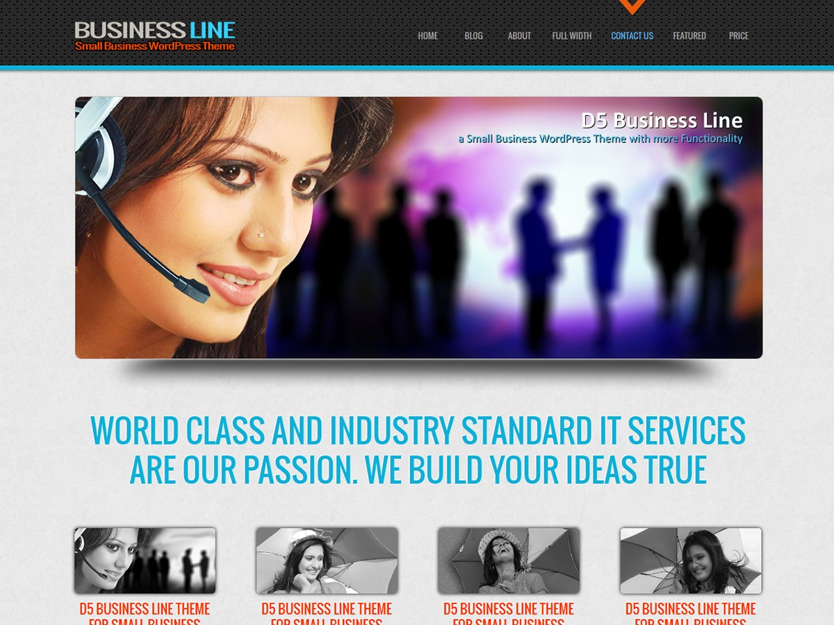 D5 Business Line Child WordPress template for business