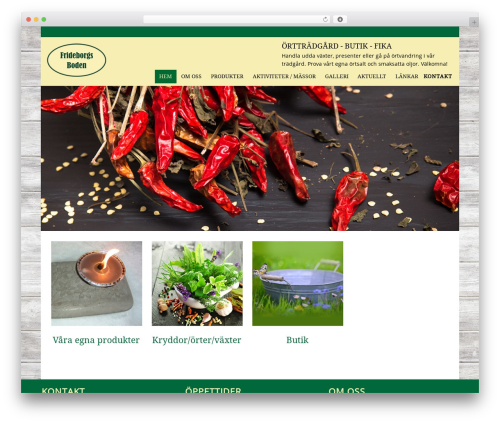 ehandel-tema theme WordPress - frideborgsboden.se