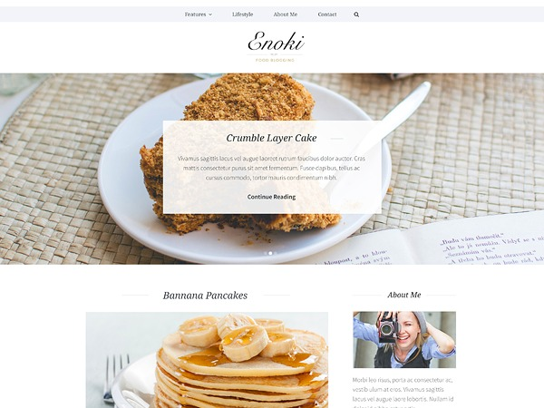 Enoki WordPress blog template