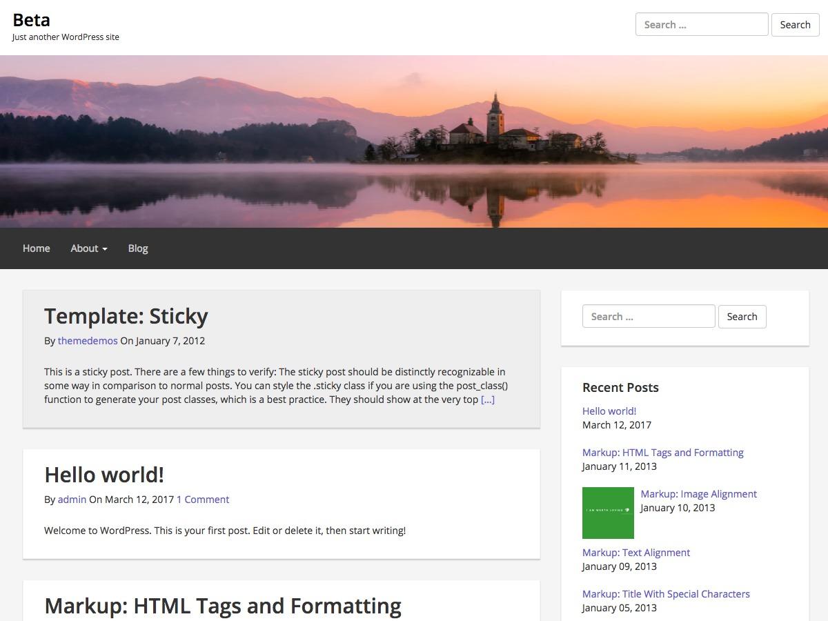 Epic Base WordPress blog template