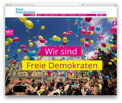 FDP template WordPress - fdp-cham.de
