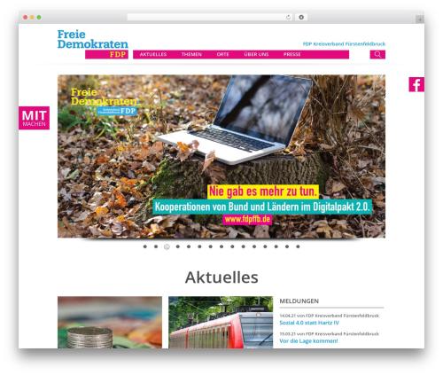 FDP WordPress page template - fdpffb.de