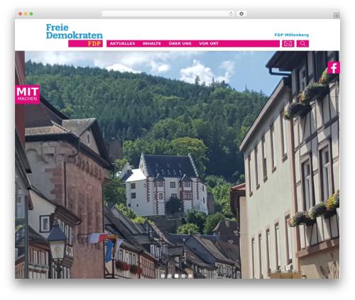 FDP WordPress theme design - fdp-miltenberg.de