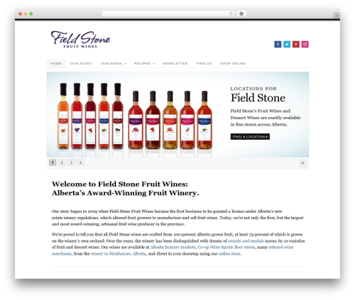Field Stone Fruit Wines - Platform Pro Child Theme WordPress ecommerce template - fieldstonefruitwines.com