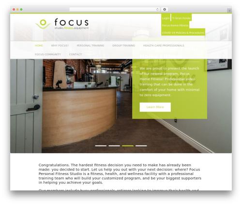 Fitness Life Child Theme gym WordPress theme - focuspersonalfitness.com