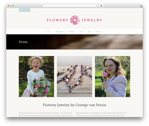 Flawless WordPress theme design - flowery-jewelry.com