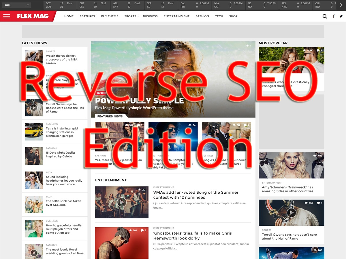 Flex Mag (Reverse SEO Edition) WordPress news template