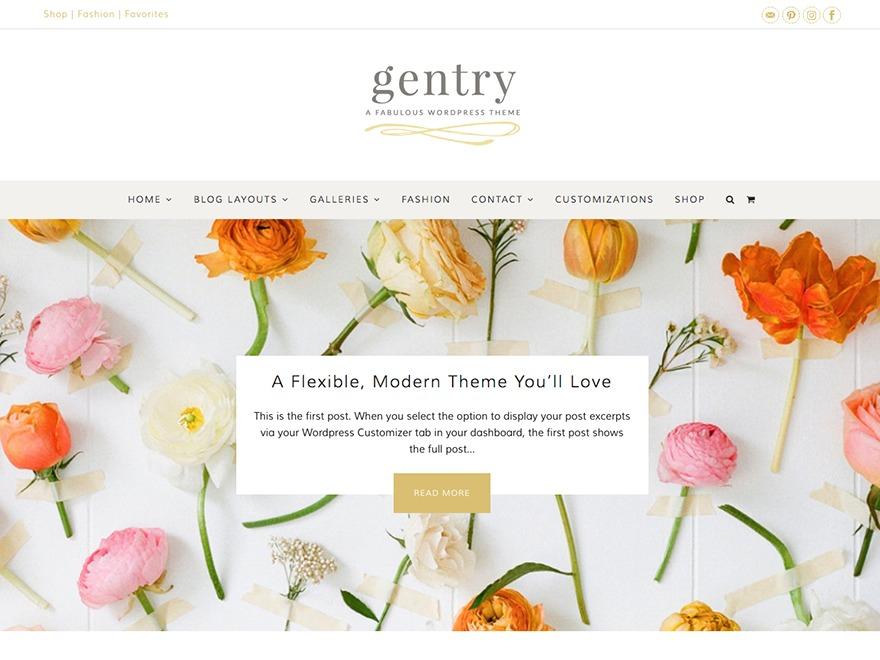Gentry - Premium WordPress theme
