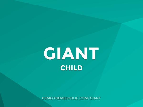 Giant Theme Child WordPress template
