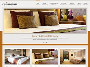 GrandHotel WordPress hotel theme