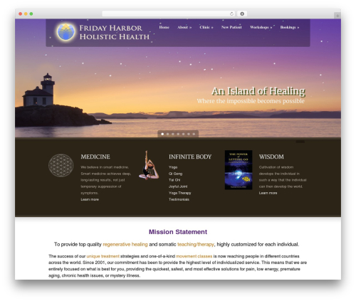 Green Earth WordPress theme - fridayharborholistichealth.com